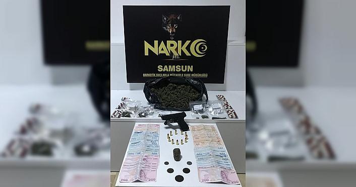 Samsun'da 1 kilo 104 gram uyuşturucu ile tarihi eser ele geçirildi