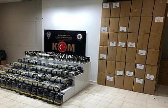 Samsun'da 2 bin 555 paket sahte bandrollü tütün ele geçirildi