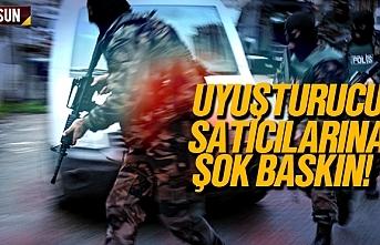 Samsun'da uyuşturucu satıcılarına baskın, 4 şüpheli yakalandı