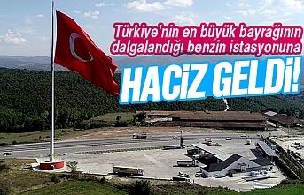 Türkiye'nin en büyük Türk Bayrağı'nın bulunduğu benzin istasyonuna haciz geldi