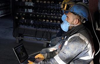 Amasya'da madenciler, AA'nın