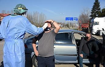 Bartın'a il dışından gelenlere koronavirüs testi uygulaması