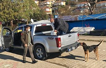 Bartın'da güvercinler ve sokak hayvanları ekipler...