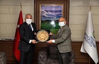 Başkan Zorluoğlu Başkan Güler'i ziyaret etti