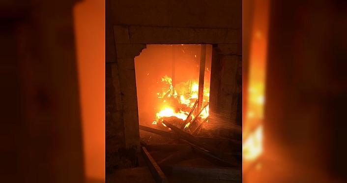 Bolu'da tarihi konakta yangın
