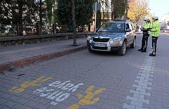 Bozkurt'ta yaya öncelikli trafik uygulaması