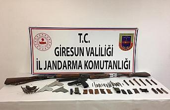 Giresun'da kaçak silah atölyesine baskın