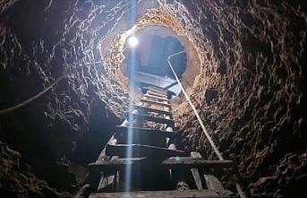 Gümüşhane'de define aramak için köy evinde tünel...