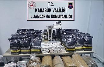 Karabük'te 92 kilogram kaçak tütün ele geçirildi