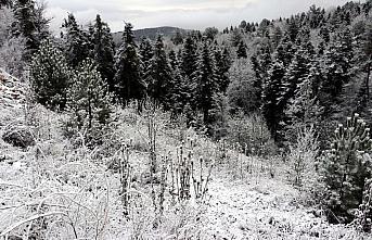 Karabük'te yüksek kesimlere kar yağdı