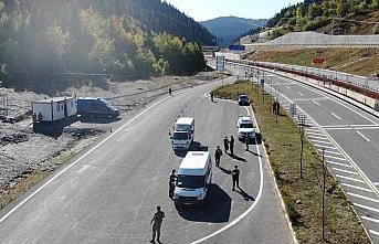 Kastamonu'da jandarma ekiplerinden drone destekli trafik denetimi