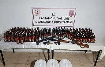 Kastamonu'da kaçak içki operasyonunda 2 kişi gözaltına...