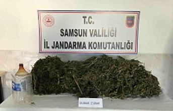Samsun'da ormanlık alanda 6 kilogram uyuşturucu...