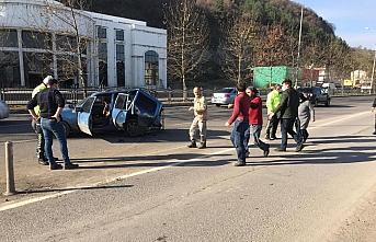 Samsun'da trafik kazası sonrası tartışan iki grup kavga etti