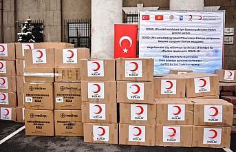 Samsun'dan gönderilen sağlık malzemeleri Kırgızistan'a...