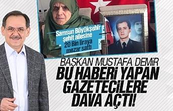 Şehit Ailesine mezar yeri haberine Mustafa Demir'den...