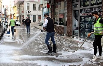 Sinop'ta cadde ve sokaklar dezenfekte ediliyor