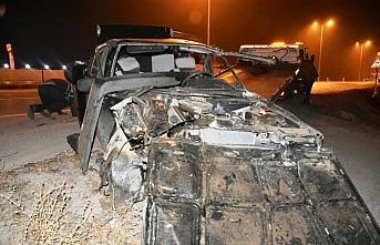 Sinop'ta otomobil şarampole devrildi: 2 yaralı