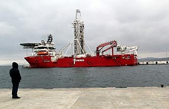 Sondaj gemisi Fugro Synergy, Sinop Limanı'na demirledi