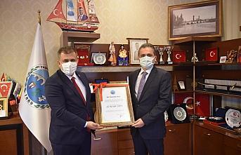 Taşköprü Belediyesinden İl Özel İdaresi Genel Sekreteri Çenet'e