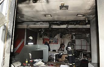 Tokat'ta iş merkezinde çıkan yangın maddi hasara...