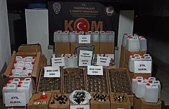 Trabzon'da sahte içki operasyonunda 2 şüpheli yakalandı