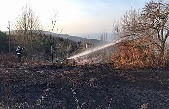 Abana'da örtü yangını söndürüldü