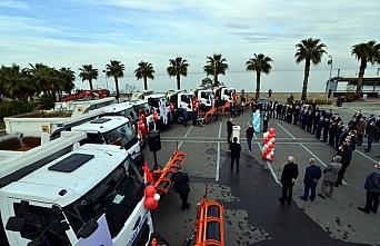 Akçaabat Belediyesine 9 kamyon alındı