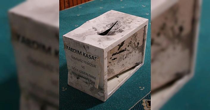 Amasya'da camilerden sadaka kutusu hırsızlığı güvenlik kameralarına yansıdı
