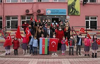 Azerbaycan askerlerinin çektiği teşekkür videosu Samsunlu minikleri sevindirdi