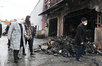 Bakan Zehra Zümrüt Selçuk'tan iş yerleri yanan...