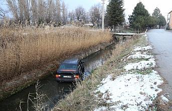 Bolu'da kalp krizi geçirerek otomobiliyle su kanalına...