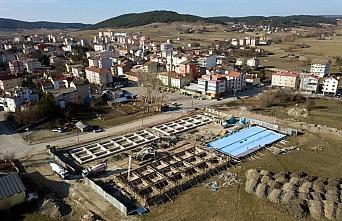 Eflani Belediyesi Küçük Sanayi Sitesi'nin temeli...