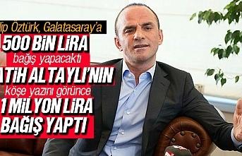 Galip Öztürk, Galatasaray'a 1 Milyon Lira yardımda bulundu