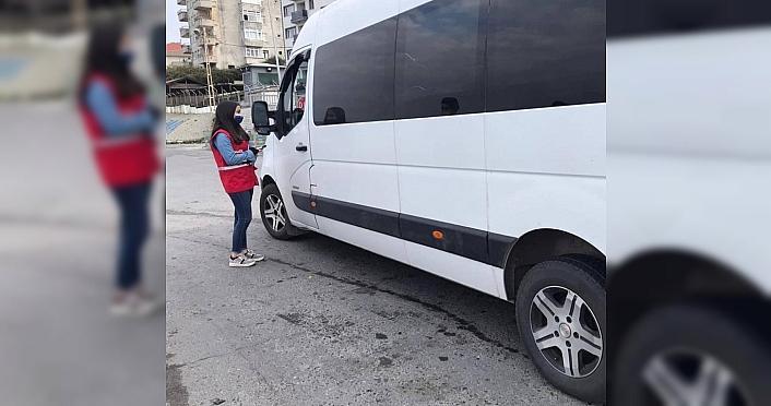Genç Kızılay Zonguldak ekibi sokağa çıkma kısıtlamasında...