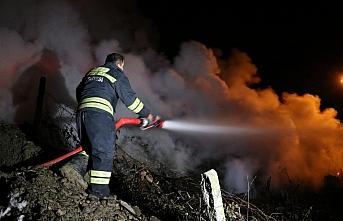 Karabük'te çıkan yangında bir ev kullanılamaz hale geldi
