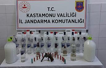Kastamonu'da kaçak içki operasyonu: 1 gözaltı