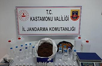 Kastamonu'da sahte içki ve tütün operasyonunda bir kişi gözaltına alındı