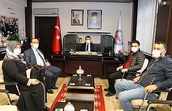 Kaymakam Saygılı'ya şehit ailesinden ziyaret