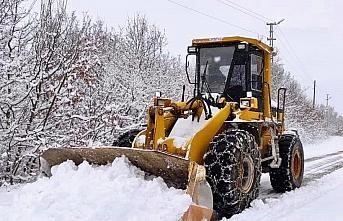 Ladik'te karla mücadele çalışmaları