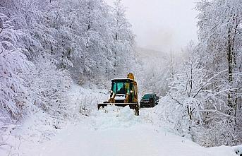 Ordu ve Giresun'un yüksek kesimlerinde kar yağışı...