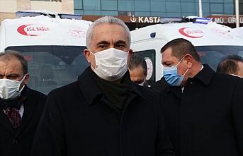 Sağlık Bakanlığınca Kastamonu'ya tahsis edilen 6 ambulans teslim edildi