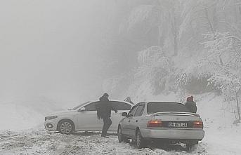 Sakarya, Kocaeli, Bartın ve Zonguldak'ta kar yağışı etkili oluyor