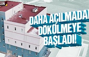 Samsun 19 Mayıs ilçesi yeni devlet hastanesi dökülüyor