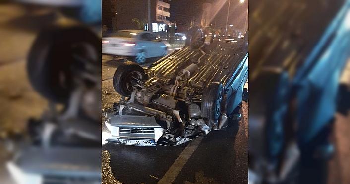 Samsun'da 3 aracın karıştığı trafik kazasında 3 kişi yaralandı