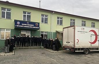 Samsun'da cezaevinde görevli jandarmadan Türk Kızılaya kan bağışı