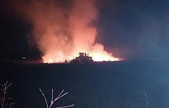 Samsun'da orman ve sazlıkta çıkan yangınlar söndürülmeye çalışılıyor