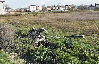 Samsun'da otomobil şarampole devrildi: 2 yaralı