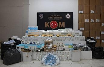 Samsun'da sahte alkol ve faturasız ürün operasyonu:...
