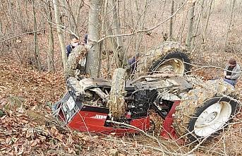 Samsun'da traktörün altında kalan sürücü öldü